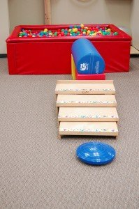 Steps to the ball pit
