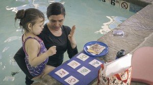 Flash cards in the pool